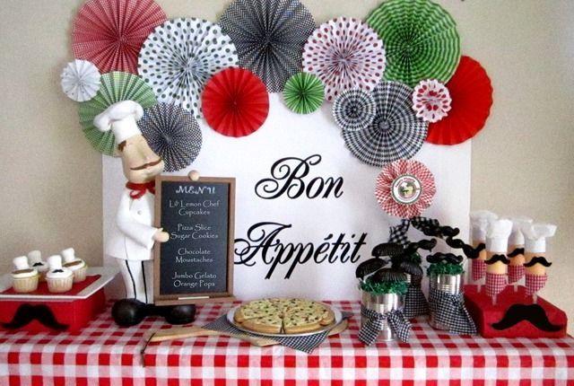 Luxury Italian themed Decorations