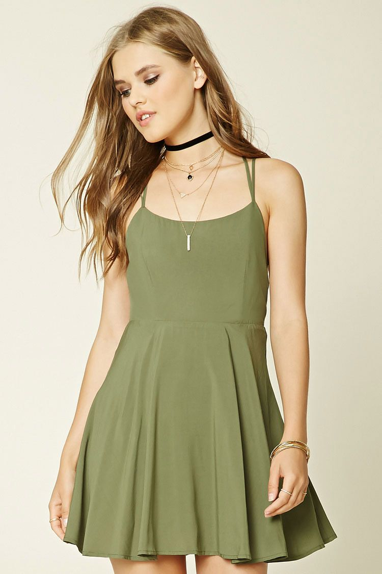 Strappy Fit And Flare Dress