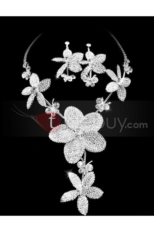 Image detail for -Attractive Clear Crystals Wedding Bridal Jewelry Set-(Including ...