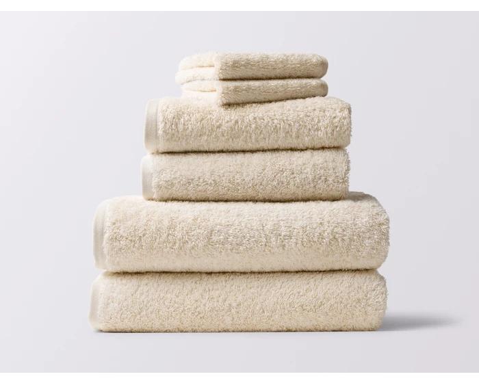 Coyuchi Cloud Loom Organic Bath Towel Set 4 Blush Towel Washing Clothes Towel Set