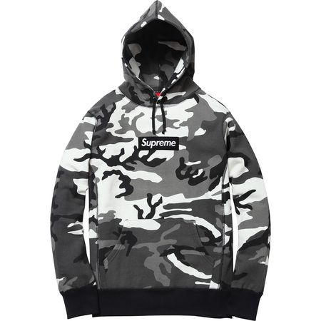 supreme box logo pullover snow camo 148 camolife. Black Bedroom Furniture Sets. Home Design Ideas