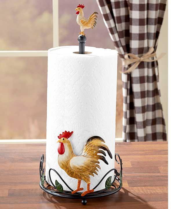 FARMHOUSE CHICKEN Towel Holder