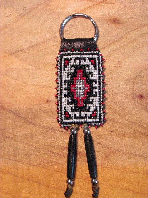 Hey, I found this really awesome Etsy listing at https://www.etsy.com/listing/507984377/beaded-keychain-beaded-keyring-native