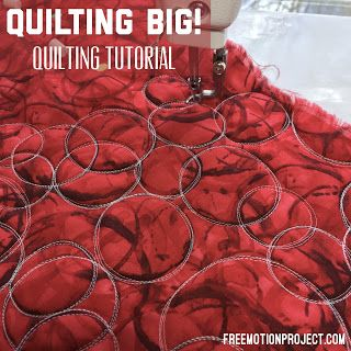 Large Scale Quilting On The Grace Qnique 14 Free Motion Quilting Free Motion Quilt Designs Quilt Big