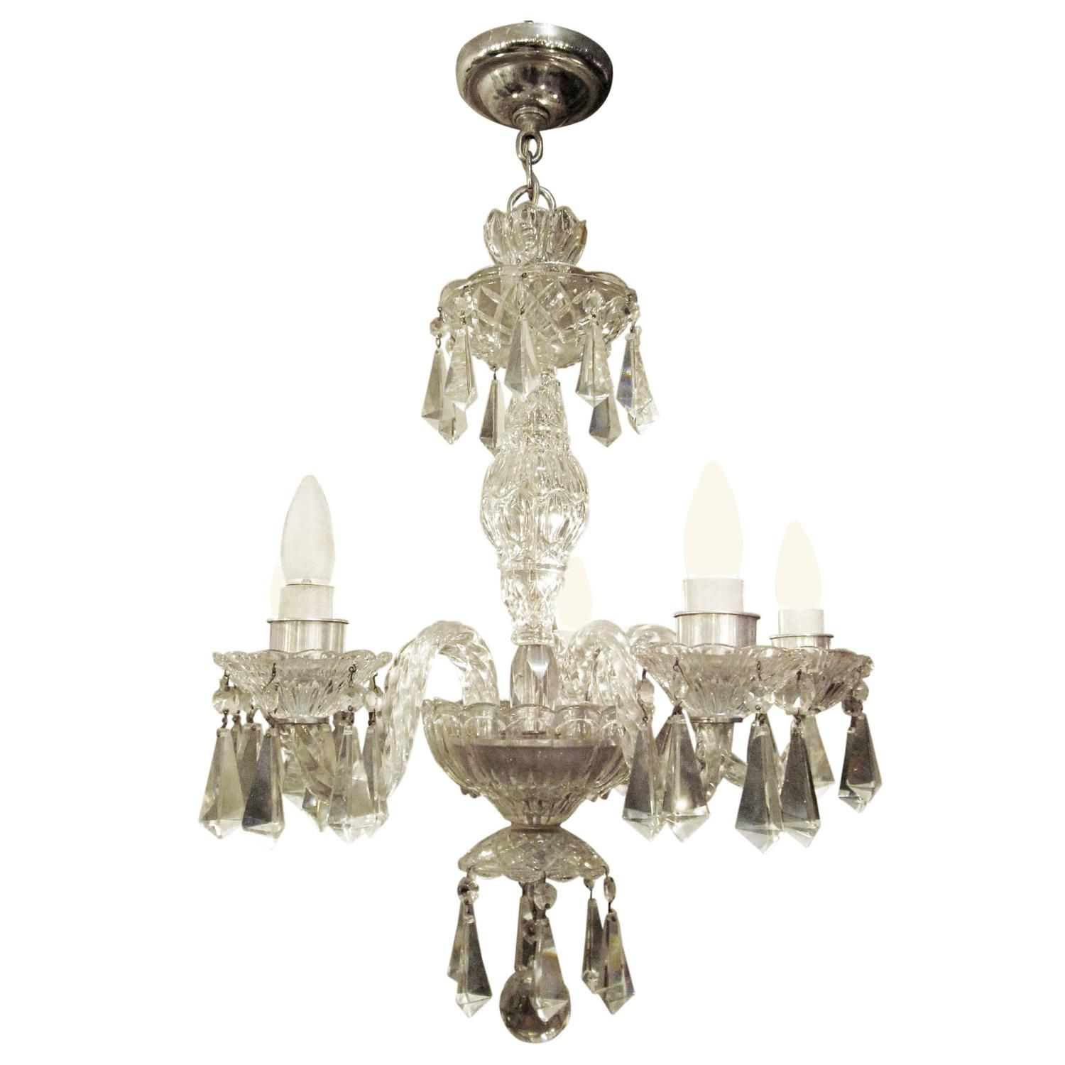 1940s five arm german lead crystal chandelier chandeliers arms 1940s five arm german lead crystal chandelier from a unique collection of antique and aloadofball Image collections