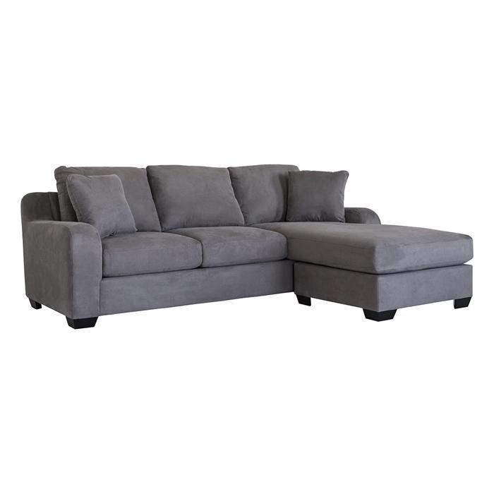 Contemporary Sofa With Chaise In Amalfi Mocha Nebraska Furniture