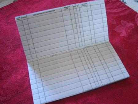 Homemade check registers School - Behavior Management - check registers