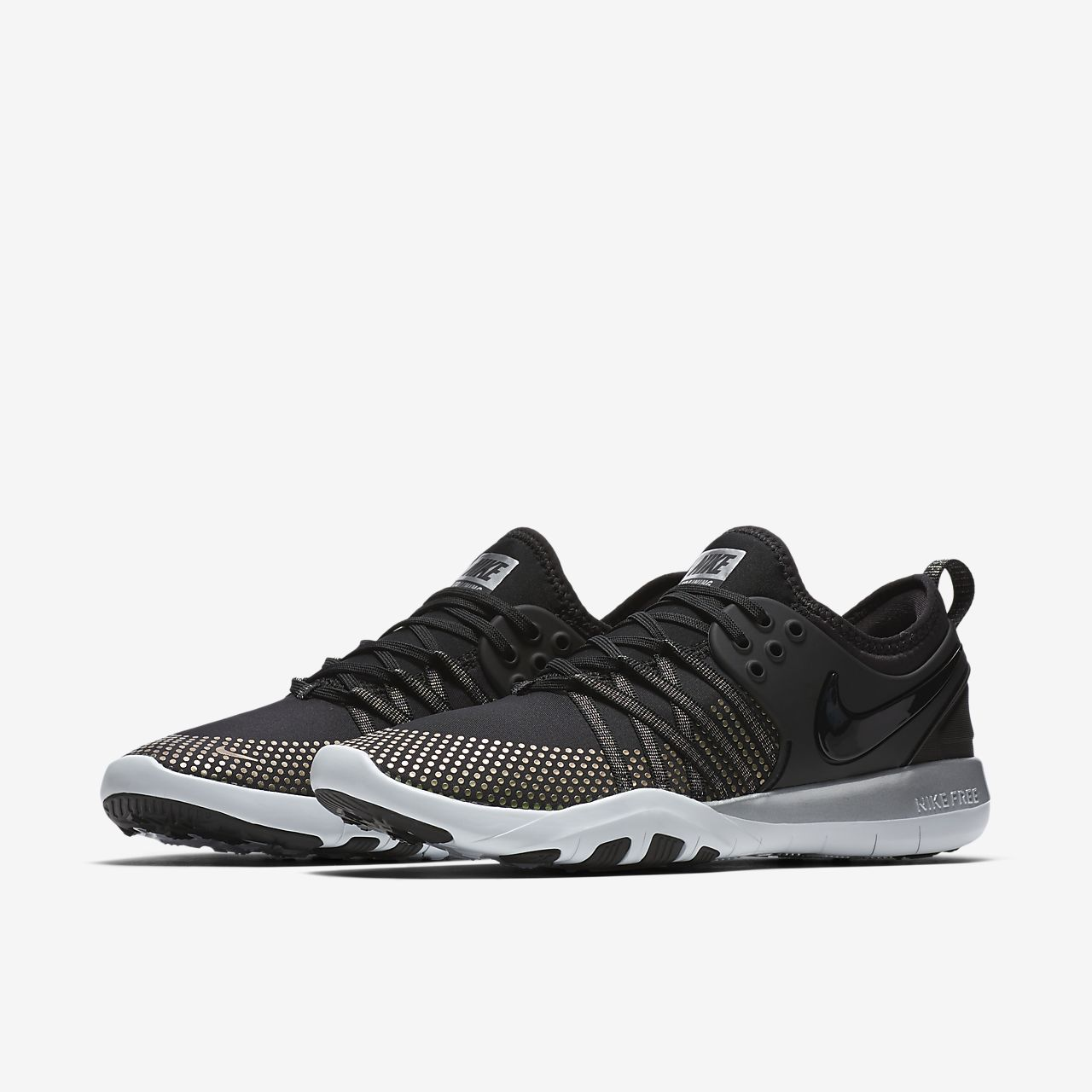 nike womens roshe run black and white splash rooster