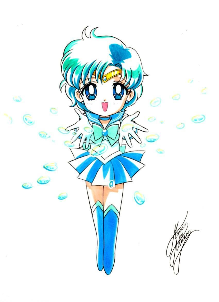 Chibi Sailor Mercury | art by Marco Albiero; from the Sailor Moon ...
