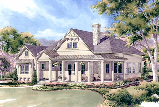 Southern Living Floor Plan Chester S Creek Cottage One Level Country Cottage House Plans Cottage House Plans Southern House Plans