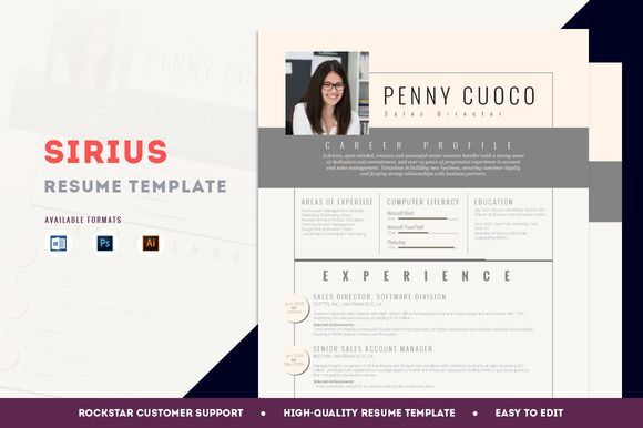 Great Resume Template Sirius Resumes Pinterest Template, Fonts