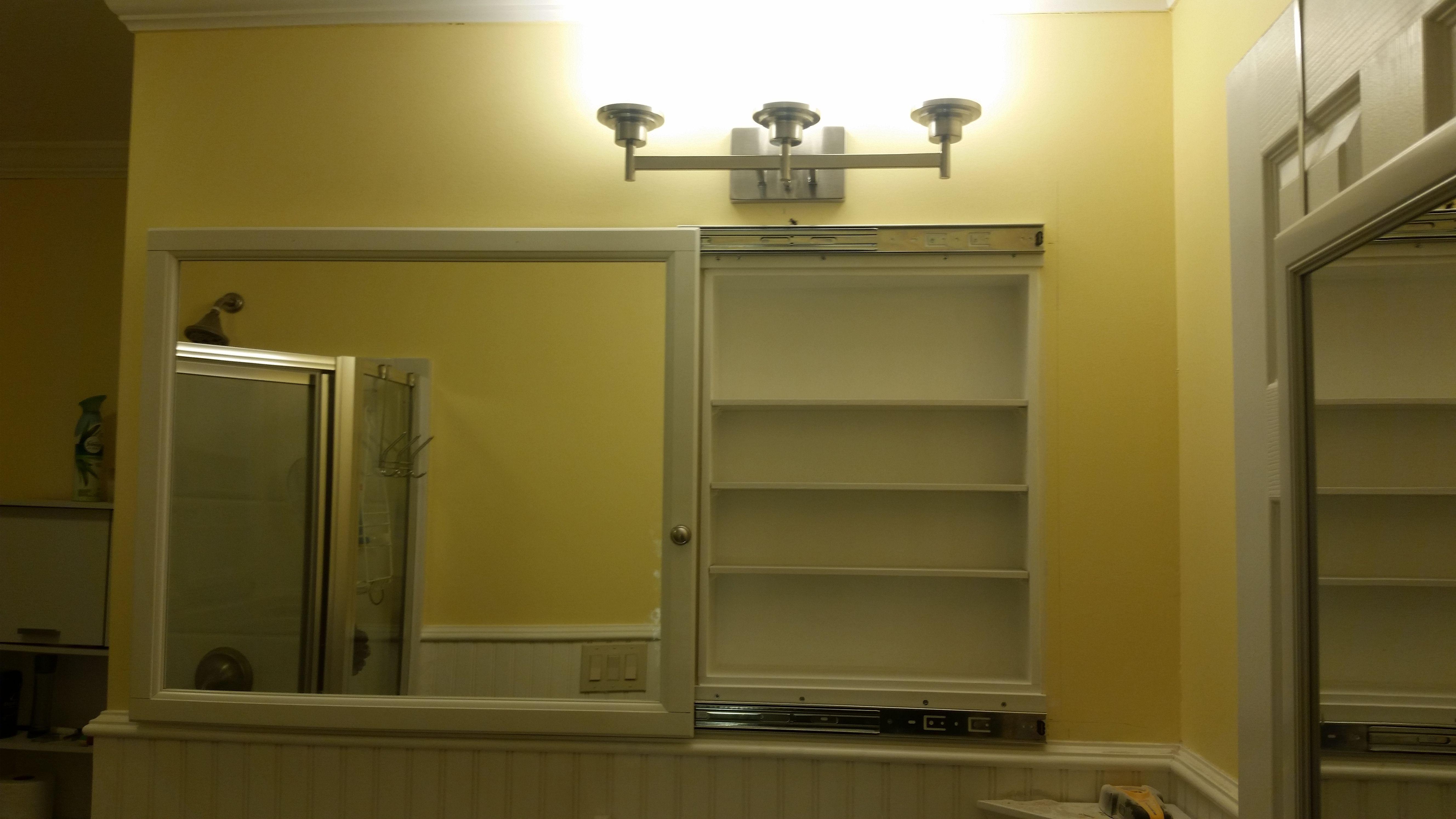Built In Medicine Cabinet With Sliding Door Quickcrafter Best