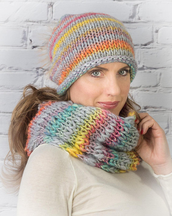 Winter hat and scarf set for women in 2019  e06e3d698e7