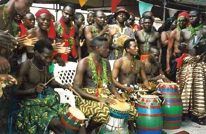 Ewe tribe - on each side of the border between Ghana and