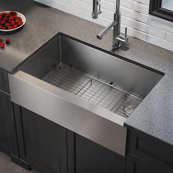 Kraus 33 Farmhouse Single Kitchen Sink In 2020 Single Sink Kitchen Sink Kitchen Sink