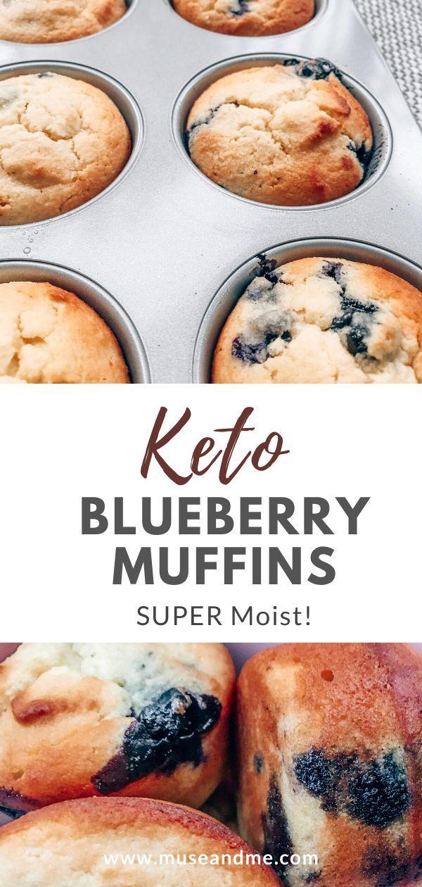 SUPER Moist (Keto) Blueberry Muffins