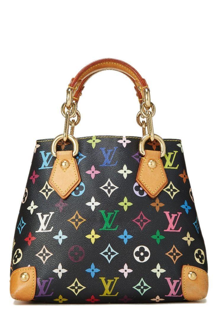 382c7ed32ffd Louis Vuitton Takashi Murakami x Louis Vuitton Black Monogram Multicolore  Audra - What Goes Around Comes Around  Louisvuittonhandbags