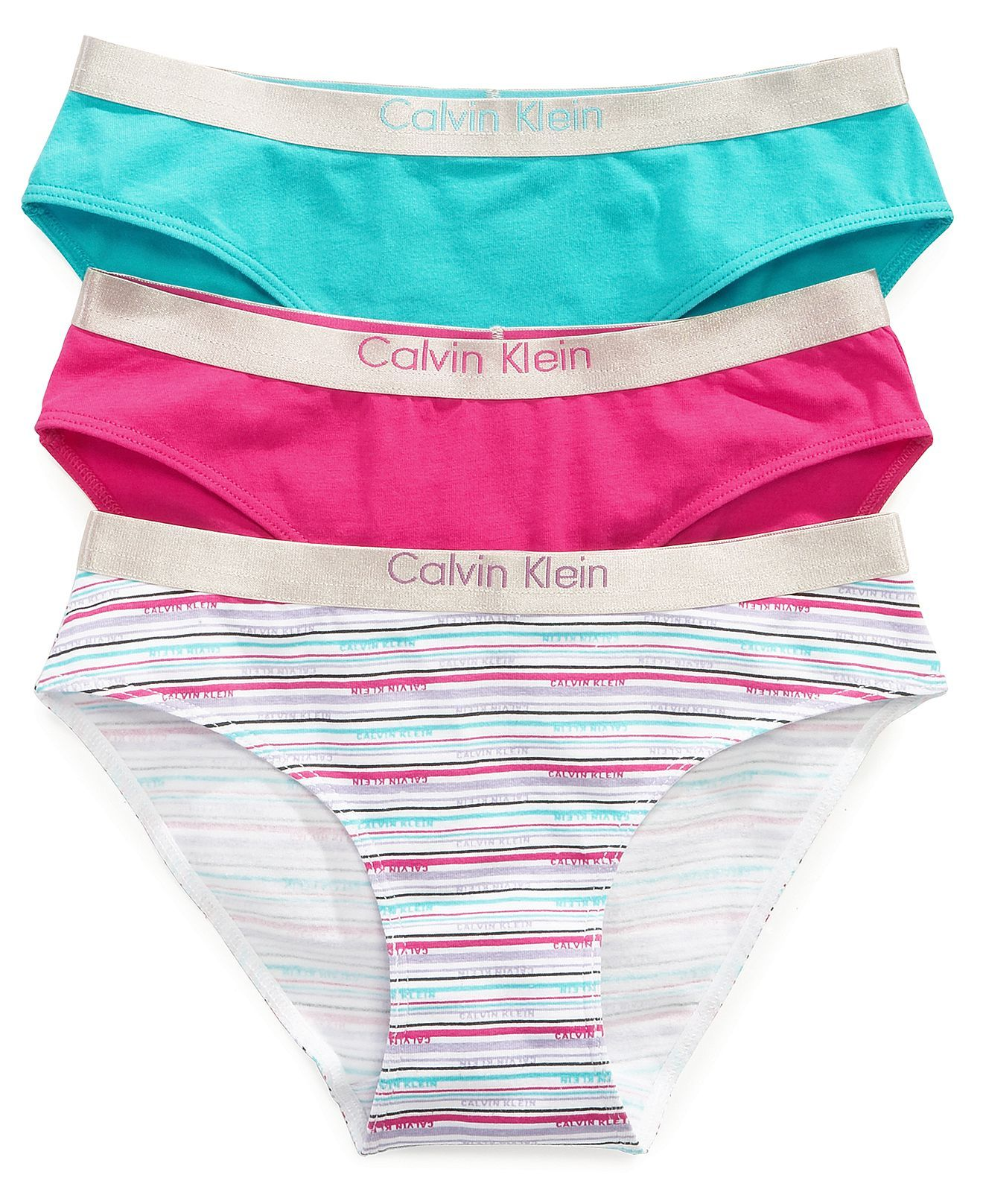 9bb8d170dae15 Calvin Klein Kids Underwear, Girls 3-Pack Bikini Briefs - Kids - Macy's