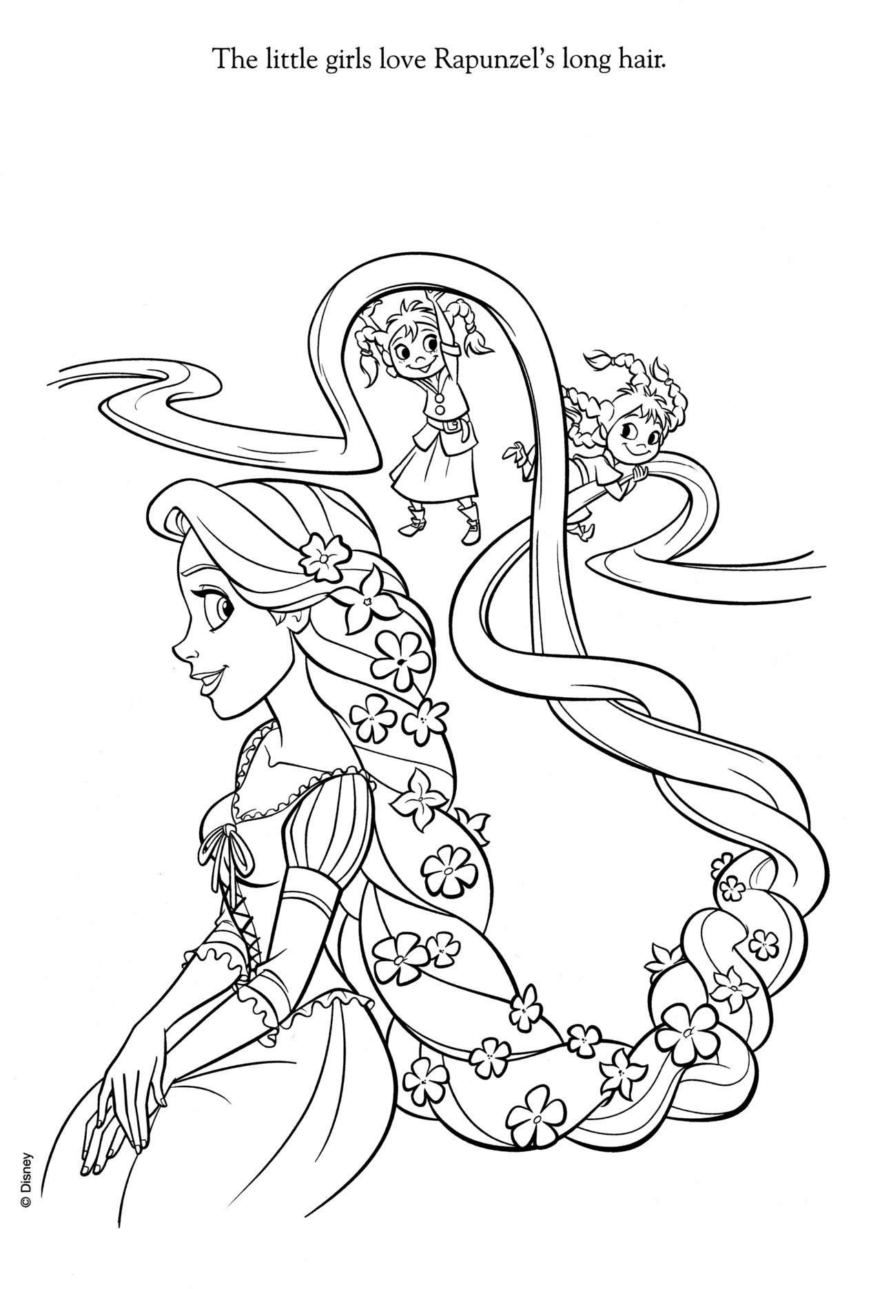 Disney Coloring Pages  Rapunzel coloring pages, Tangled coloring