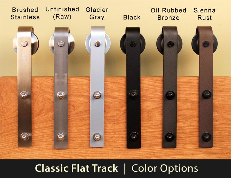Sliding Barn Door Hardware Stainless Steel Oil Rubbed Bronze And Black Finishes