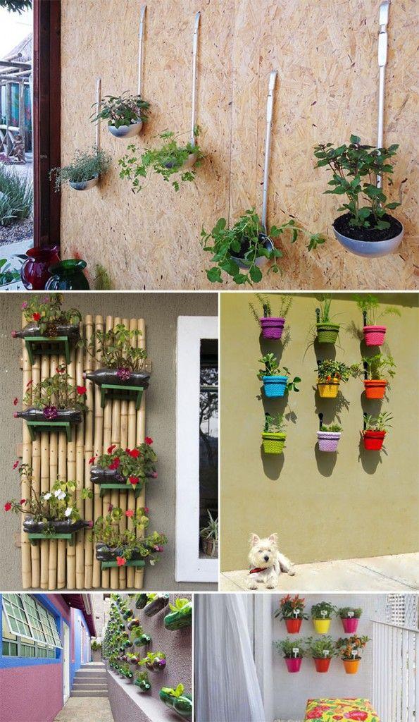 Ideias De Hortas ~ horta vertical Detalhe das concha vaso Ideias para casa Pinterest Hortas verticais