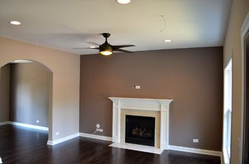 Sherwin Williams Accent Wall With Unfussy Beige Love The Colors What Are They Houzz