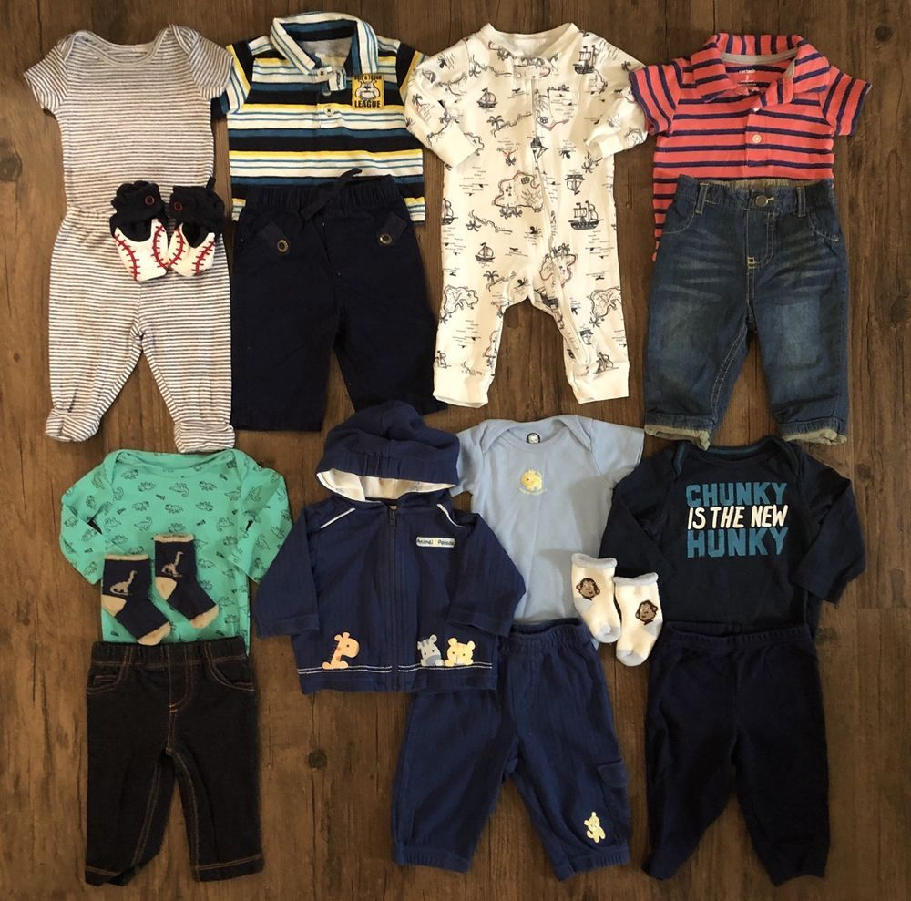 a193a95ac Baby Boy Newborn 0 3 6 Mo Rompers One Two Piece Outfit Fall Winter ...