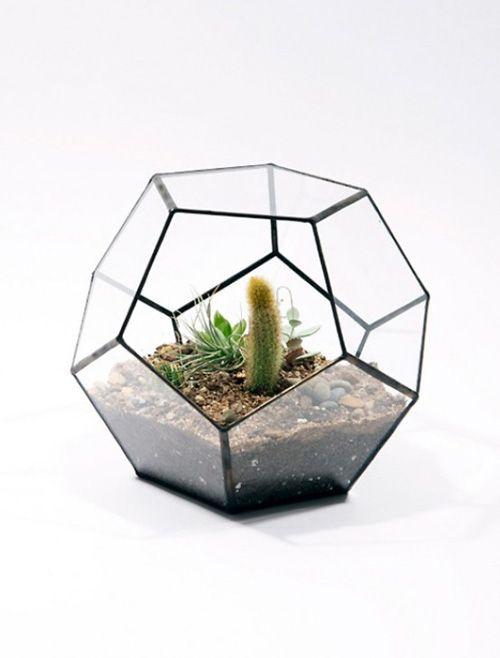 Metal Diamond Geometric Terrarium Box Pot Succulent Planter Home Garden Decor