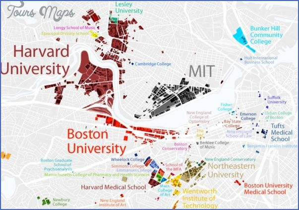 nice Boston University US Map & Phone & Address | Go BU Terriers ...