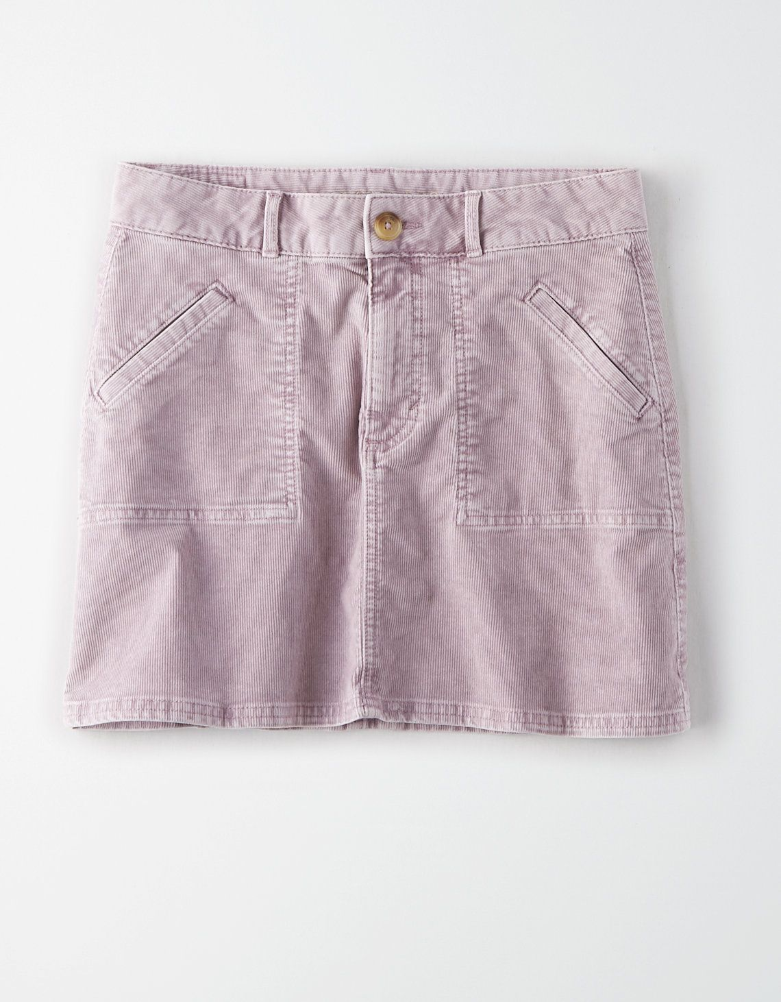 c8ce99295 AE High-Waisted Corduroy A-Line Skirt, Lavender   American Eagle Outfitters