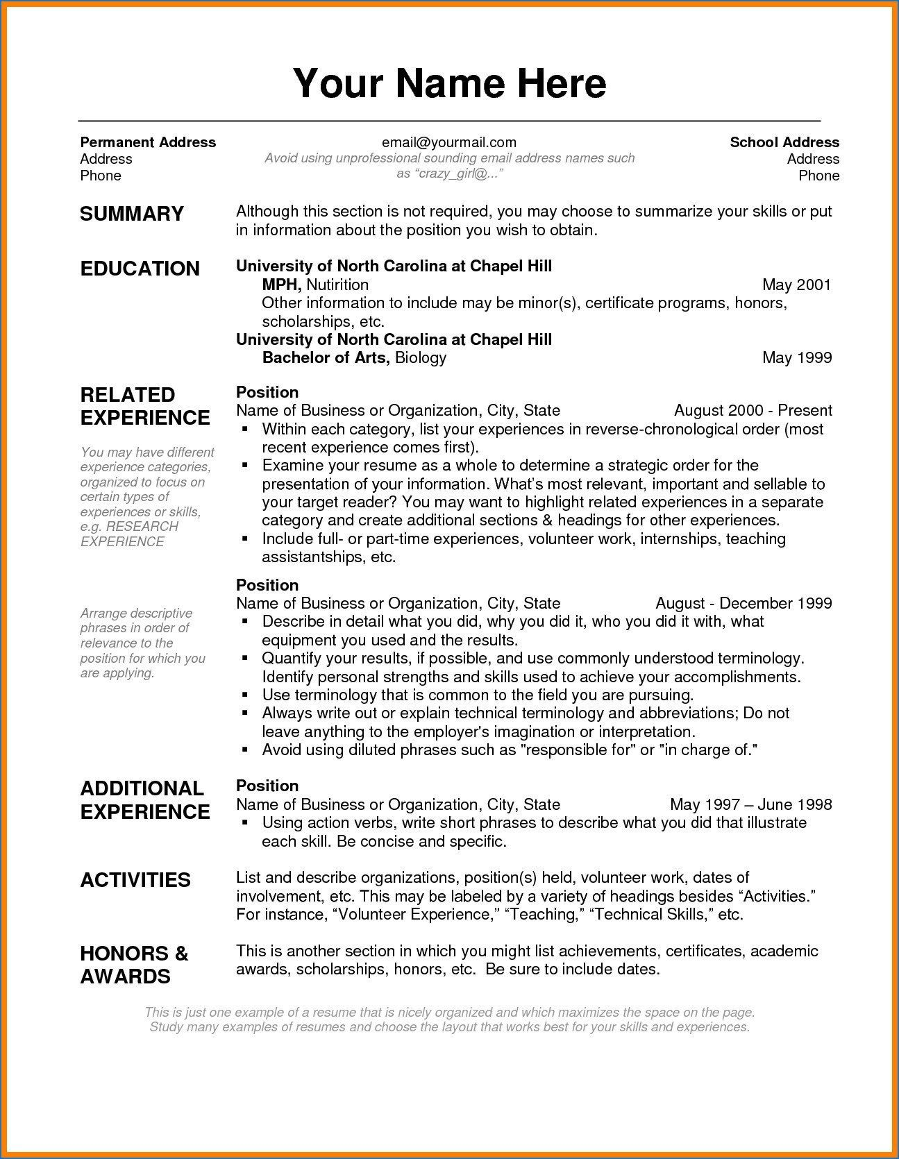 India Simple Resume Format Job Resume Format Cv Format For Job