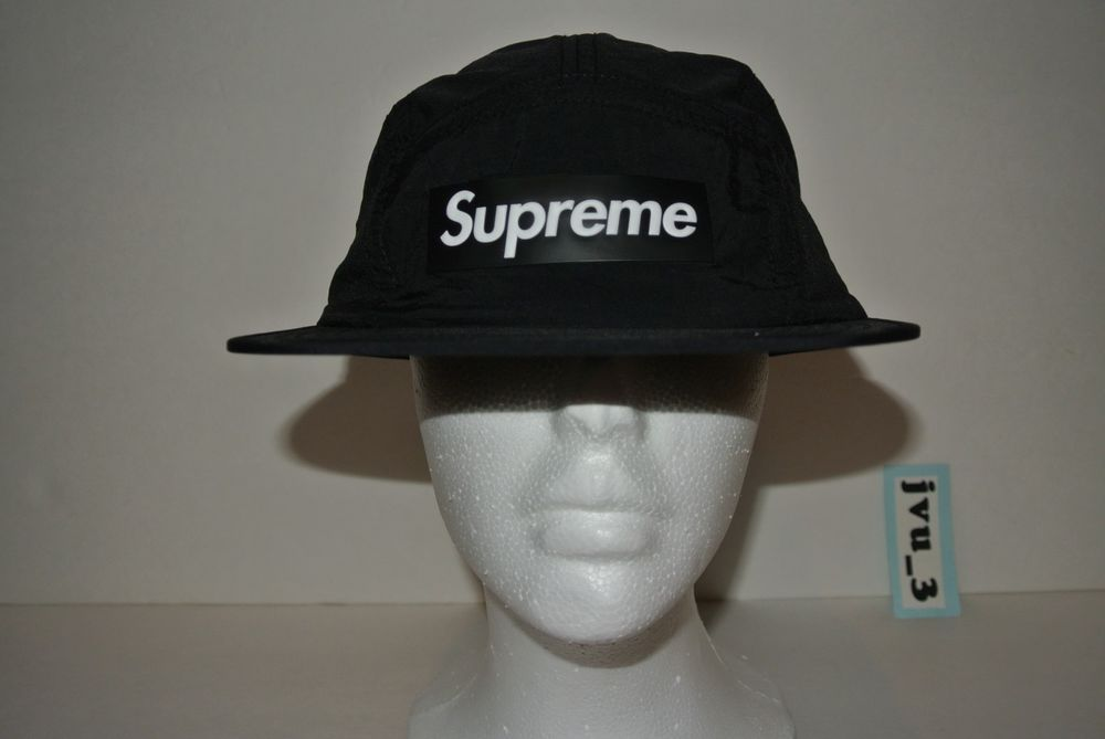 NEW SUPREME SS18 RAISED LOGO PATCH CAMP CAP BLACK M L box logo hat comme  cdg  fashion  clothing  shoes  accessories  mensaccessories  hats (ebay  link) 8119a242ae57