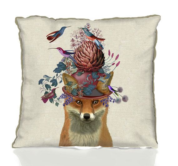 Fox Cushions Fox Decor woodland decor Fox Pillows woodland pillow farmhouse decor fox throw pillow living room decor new home gift spring