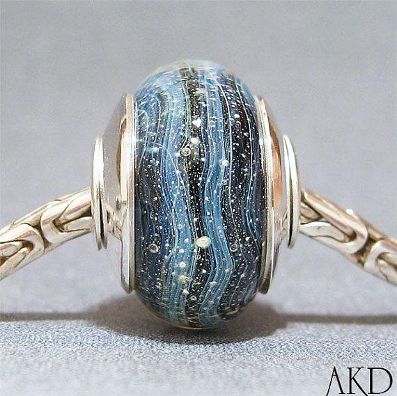 Handmade European Bracelet Charm SRA Lampwork Glass by AKDlampwork, $32.00