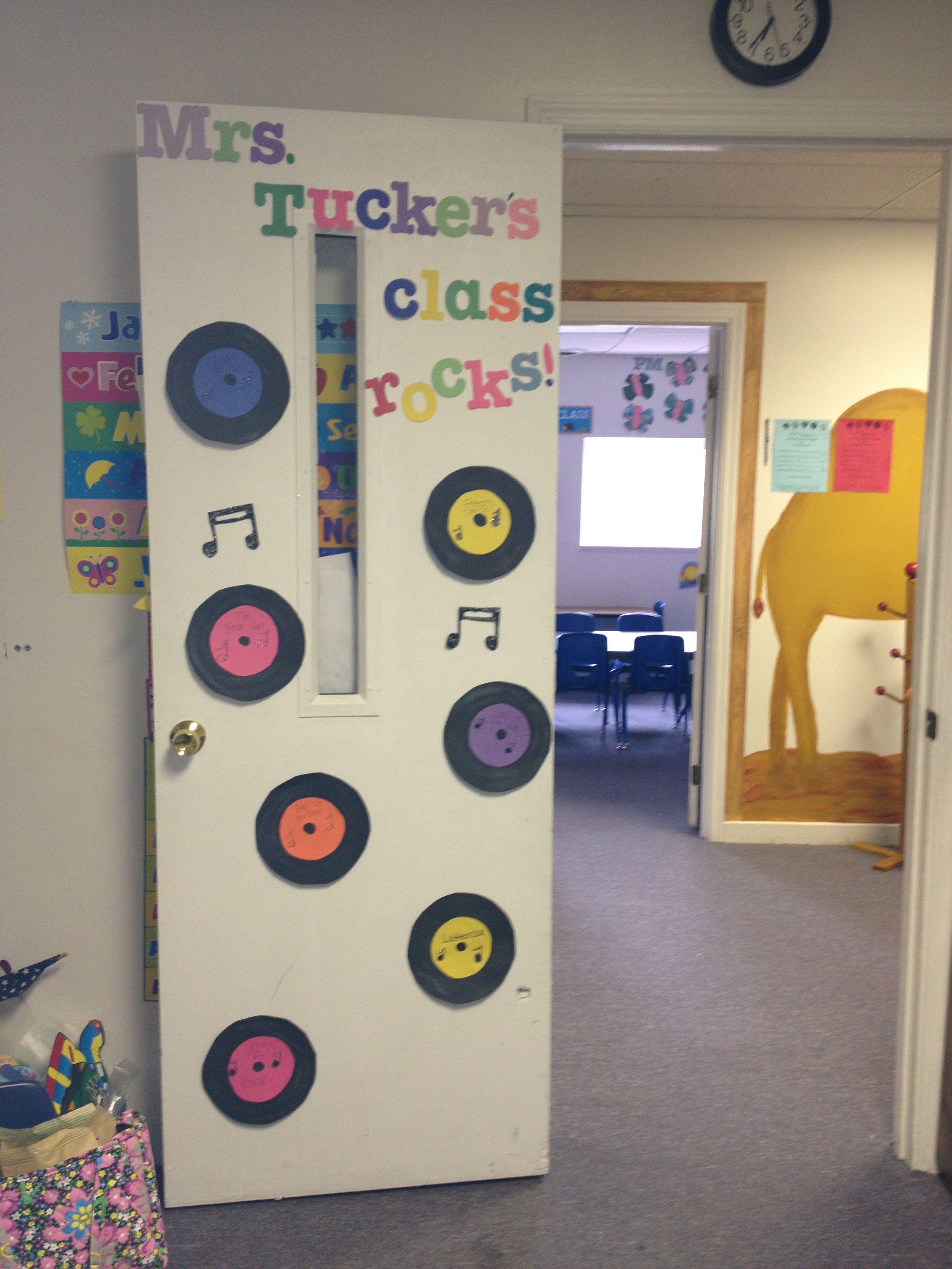 50s Door Rock Star Theme Preschool Door Teacher Appreciation