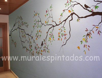 Arbol de cerezo dibujo buscar con google img for Como pintar murales en paredes exteriores