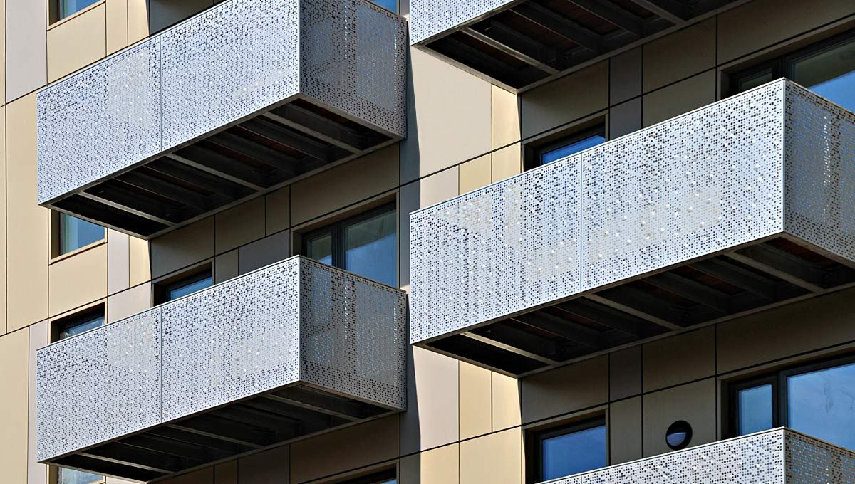 Images balconies with perforated metal google search for Balcony underside