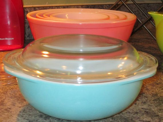 Pyrex 045 2 1/2 Quart Golden Hearts by thetrendykitchen on Etsy, $25.00