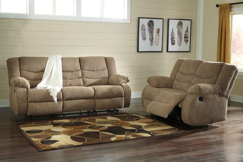 Drennan Chenille Reclining 87 Pillow Top Arm Sofa Ashley