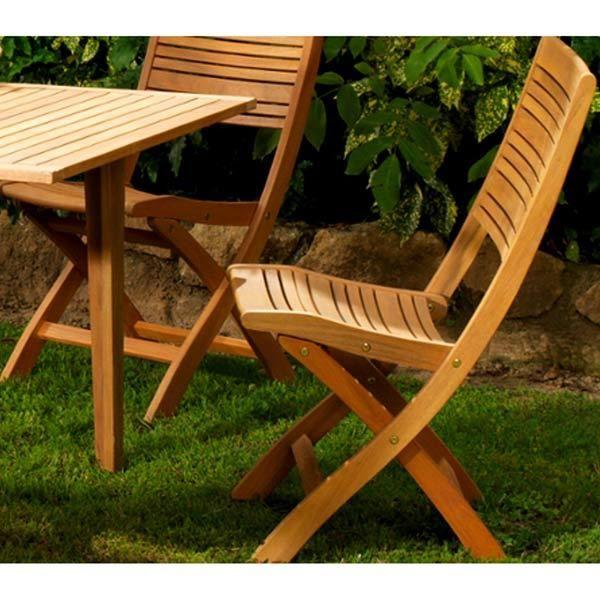 chaise en bois lattes fsc eucalyptus look teck impala maison facile. Black Bedroom Furniture Sets. Home Design Ideas