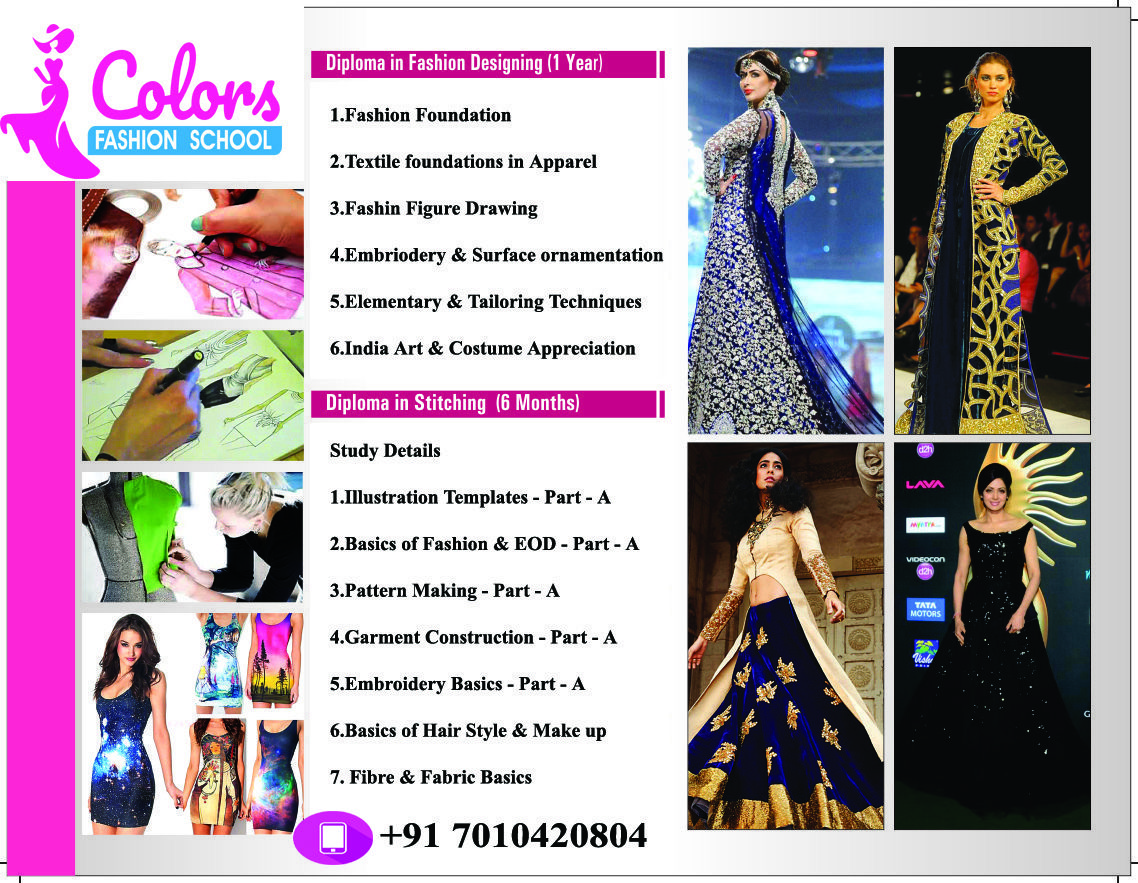 Colors Institute Of Fashion Technology With The Best Fashion Designing Course Fashion Designing Institute Diploma In Fashion Designing Fashion Designing Course