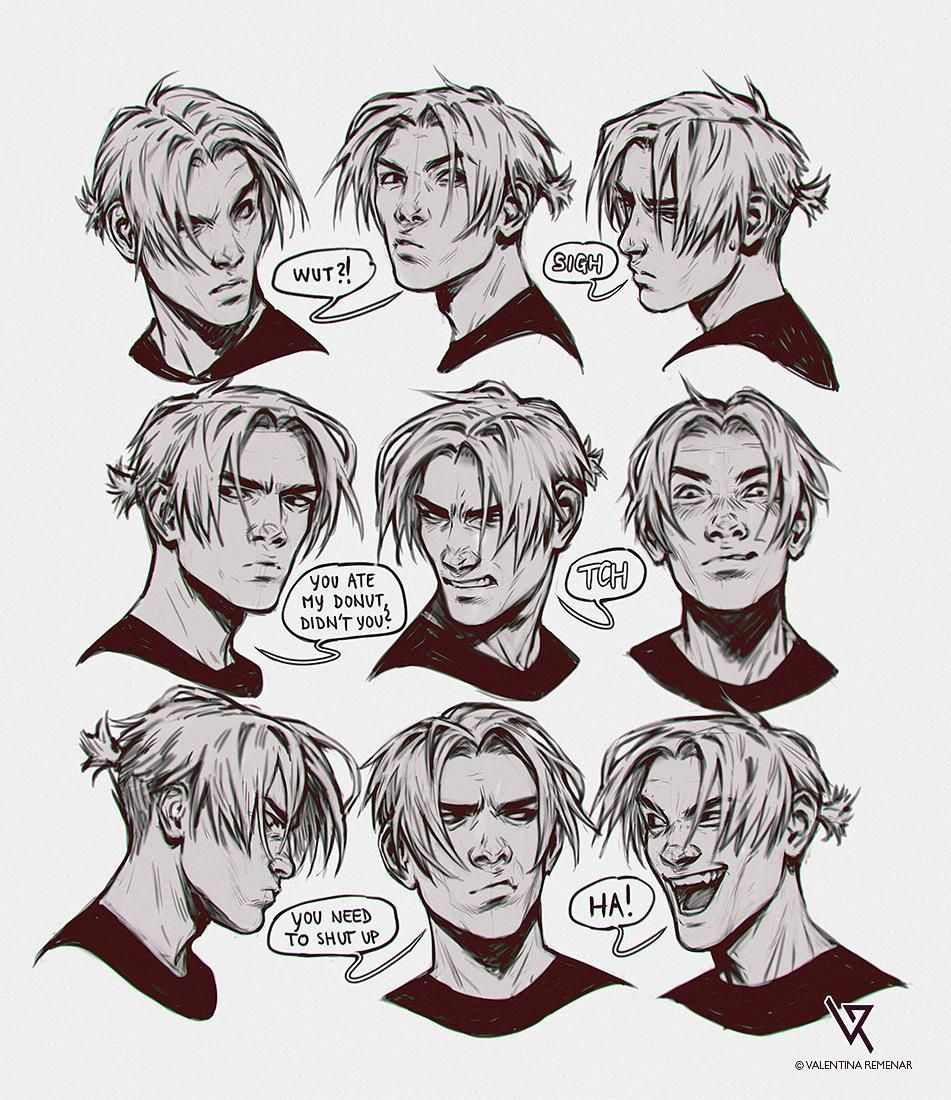 Valentina Remenar Valentinaremenar Instagram I M So Not Serious After Midnight Xd Here Are Some Sketch Anime Faces Expressions Comic Face Face Expressions