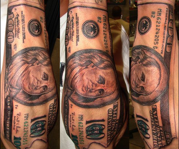 Tattoo Designs Under 100 Dollars: Money Tattoo, Tattoo Meanings And Tattoo