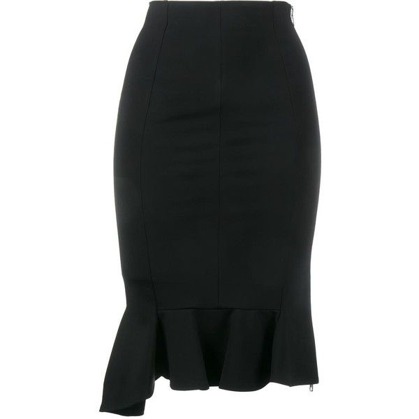 Givenchy ruffle hem pencil skirt ($1,100) ❤ liked on Polyvore ...