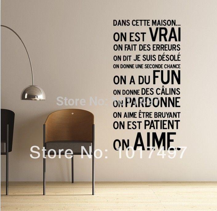 Pas cher fran ais d coration de la maison 105 x 55 cm for Fournisseur deco maison