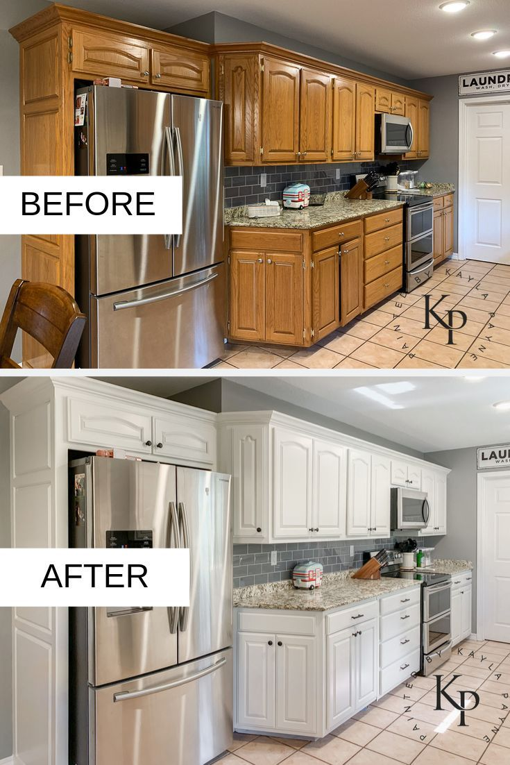 Kitchen Cabinets Painted In Neutral Ground - Paint
