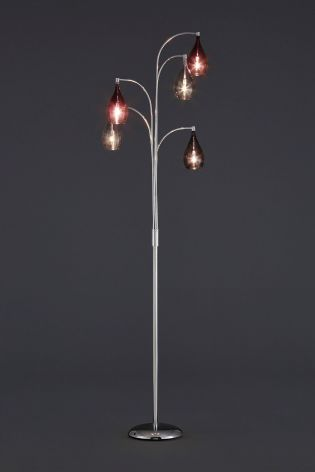 Hanbury 5 light floor lamp with plum shades living room buy hanbury floor lamp from the next uk online shop aloadofball Images