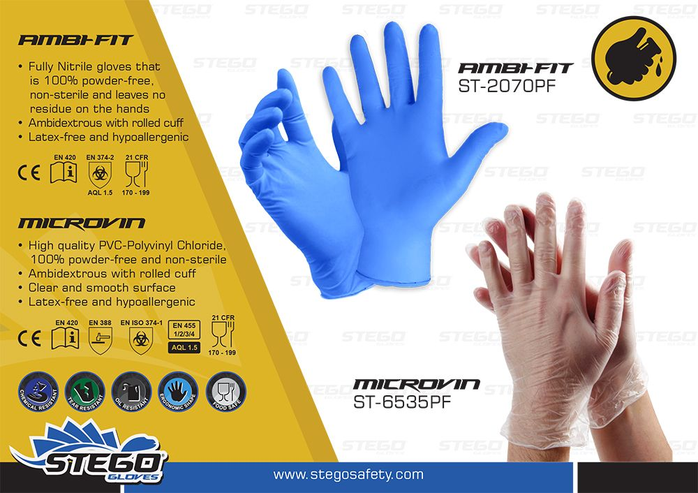 We develop disposable gloves to complete stegos range of