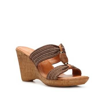 Italian Shoemakers Brooklyn Wedge Sandals in Brown  e46f6af789