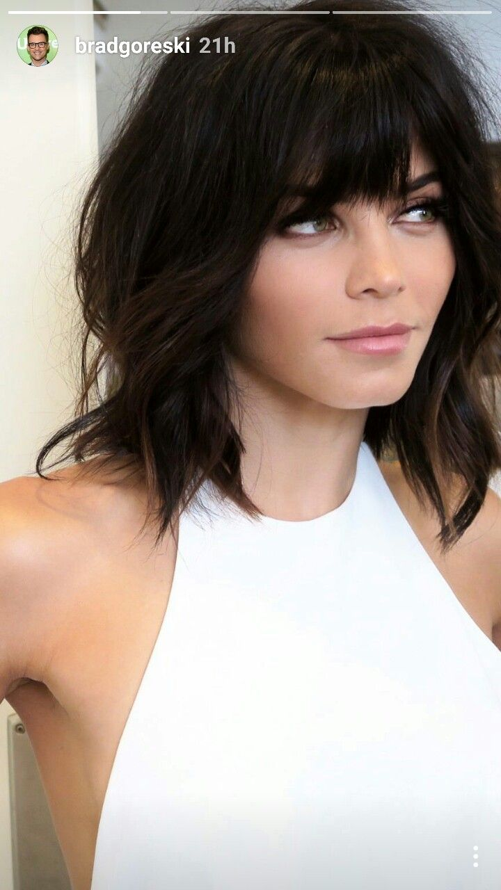 Without the bangs medium length hair style pinterest bangs